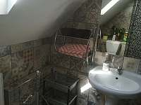 Sprcha 1. patro - chalupa k pronájmu Petříkovice