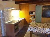 společenská místnost s kuchyňkou - chalupa k pronájmu Rokytnice nad Jizerou