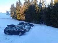 parkování u chalupy
