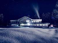 Noční zimní Labská Vyhlídka