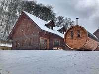 Po lyžích je sauna skoro nutnost :) - chata k pronajmutí Prkenný Důl