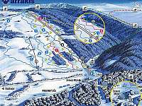 Ski areál Arrakis (cca 1km od chaty) - Prkenný Důl
