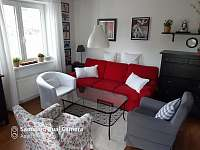 Obývací část - apartmán ubytování Rokytnice nad Jizerou