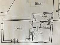 Půdorys apartmánu_2kk/64 m2 - pronájem Rokytnice nad Jizerou
