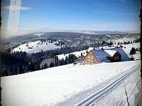 Hlavní Krkonošská lyžařská magistrála směr Hostel Klínovka - Špindlerův Mlýn