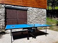 Pingpongový stůl - pronájem chaty Poniklá - Jilem