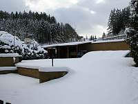 zahrada v zimě - Dolníky u Trutnova