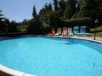 Bazén - chata k pronájmu Svahová