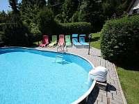Bazén - chata ubytování Svahová