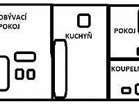 Situační nákres apartmánu