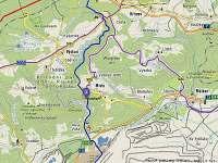 mapa - Úbočí - Místo