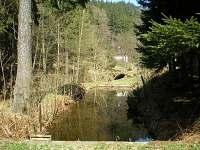 vodní náhon na vodu u chaty - k pronájmu Úbočí - Místo