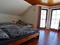 ložnice pro 4 osoby - apartmán k pronajmutí Boží Dar