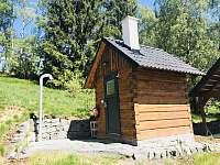Sauna a venkovní sprcha