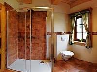 koupelna přízemí - chalupa ubytování Přebuz