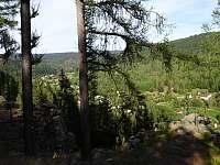 Loupežnická stezka - pohled na Ferratu - Kraslice - Tisová