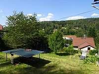 Pin-pongový stůl a panoramatické výhledy ze zahrady - chalupa k pronajmutí Kraslice - Tisová