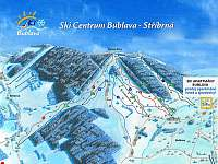 Ski areál Bublava - Stříbrná detail tratí - Kraslice - Tisová