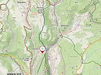 Turistická mapa okolí Tisové - Kraslice - Tisová