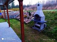 Venkovni krb - chata ubytování Svahová