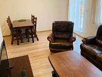 Obývací pokoj s TV - apartmán k pronajmutí Klášterec nad Ohří