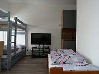 Obývací místnost. - apartmán ubytování Loučná pod Klínovcem