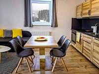 Apartmán AB C306 - jídelní stůl s kuchyňským koutem - ubytování Loučná pod Klínovcem