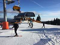 lyžování ve skiareálu Klínovec - Loučná pod Klínovcem
