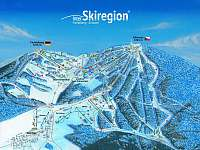 mapa skiareálu Klínovec - pronájem apartmánu Loučná pod Klínovcem
