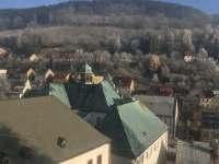 Výhled od domu - chalupa ubytování Jáchymov