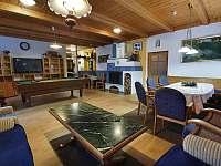 Obývací pokoj - chata ubytování Hřebečná