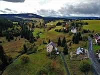 Pohled na Plešivec - chata k pronájmu Hřebečná