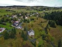 Pohled od Plešivce - chata ubytování Hřebečná