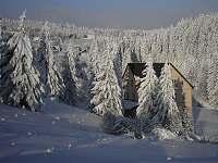 Zima - pronájem chaty Hřebečná