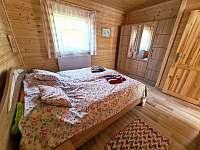 Chata Naďa na Velkém Rybníku - ložnice s manželskou postelí - Hroznětín - Velký Rybník