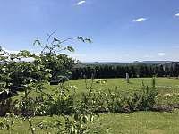 výhled z terasy - ubytování Lom
