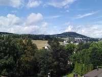 Výhled z okna - apartmán k pronajmutí Vejprty