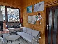 Zasklená zimní pergola - pronájem chalupy Zadní Telnice