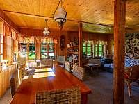 Kalahari - společenská místnost - chata k pronajmutí Loučná pod Klínovcem