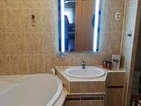 koupelna s pračkou a sušičkou - apartmán k pronájmu Pila