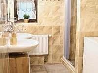 Koupelna a wc - chalupa k pronajmutí Horní Halže