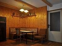 obývák - chata k pronajmutí Klášterec nad Ohří