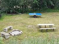 Zahrada s ohništěm a grilem - ubytování Mariánská