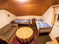 2.ložnice v 1. patře - pronájem chaty Jáchymov - Nové Město