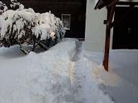 Chata v zimě - chalupa k pronájmu Kraslice