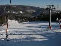 Sjezdové lyžování - chata ubytování Klíny
