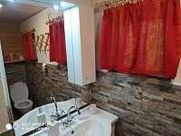 Toaletka v koupelně - chata k pronájmu Klášterec nad Ohří