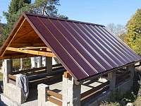 Letní terasa - chalupa ubytování Nové Zvolání - Vejprty