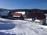 Sněhová nadílka - chalupa k pronájmu Nové Zvolání - Vejprty