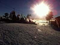 Západ slunce na vrcholu Klínovce